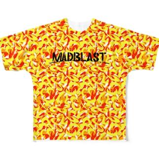 MAD CAMO(ORANGE) Full graphic T-shirts