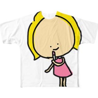お化粧キャシー Full graphic T-shirts