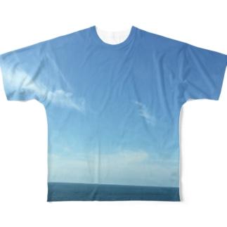 田舎の何もない空と海と Full graphic T-shirts