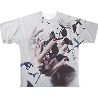 """""""haku re"""" #01 Full graphic T-shirts"""
