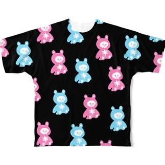 イソ(ベ)マスヲのほねくま Full graphic T-shirts