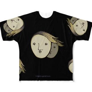 背後からこんにちは( °  ∀  ° ) Full graphic T-shirts