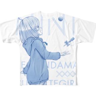 けん玉美少女ミント Full graphic T-shirts