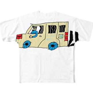 DQN車 Full graphic T-shirts