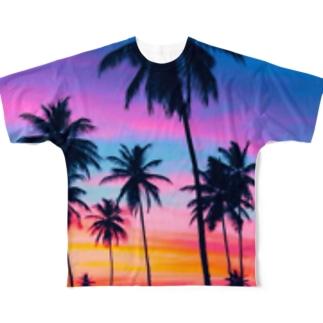 twilight beach Full graphic T-shirts