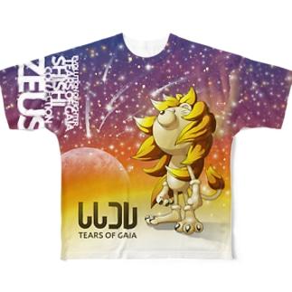 ししコレ TEARS OF GAIA Full graphic T-shirts