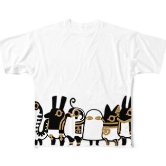 とーとつにエジプト神 ぐるっと12柱 Full graphic T-shirts