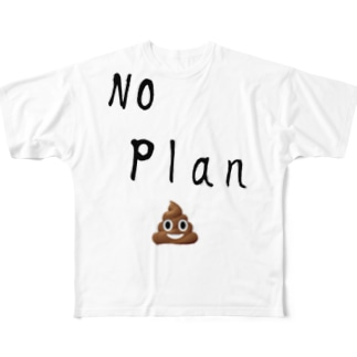 no plan Full graphic T-shirts