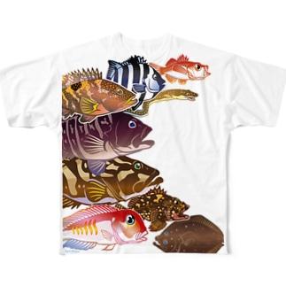 お魚をまとうTシャツ*ソコモノ Full graphic T-shirts