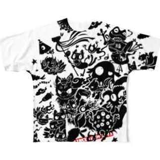 百鬼夜行 Full graphic T-shirts