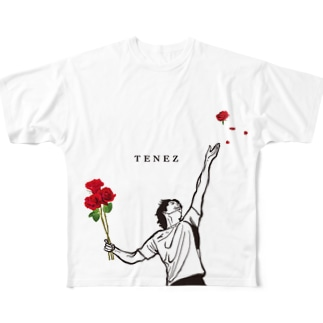 TENEZ サービスエース! Full graphic T-shirts