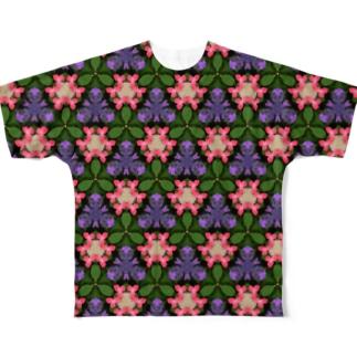 「あじさい」万華鏡 Full graphic T-shirts