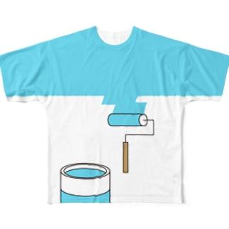 塗り替え中 Full graphic T-shirts