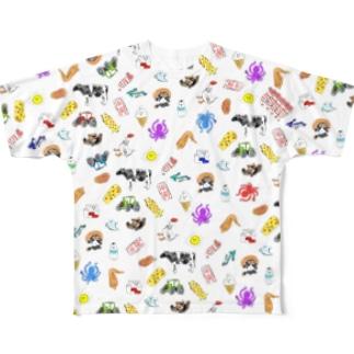いってらっしゃい3 Full graphic T-shirts