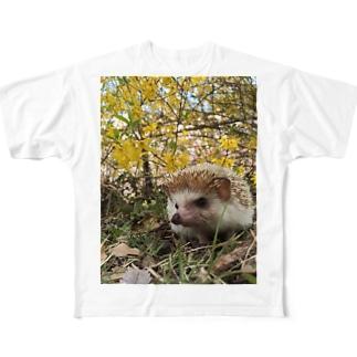 ハリネズミのもぐらくん Full graphic T-shirts