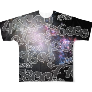 POINTS OYABAN galaxy Full graphic T-shirts