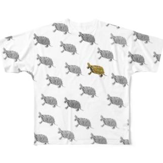 ニホンイシガメ、上昇中! Full graphic T-shirts