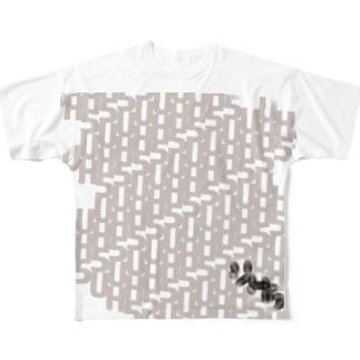 UH5 TV Series+ ver. 白プリント Full graphic T-shirts