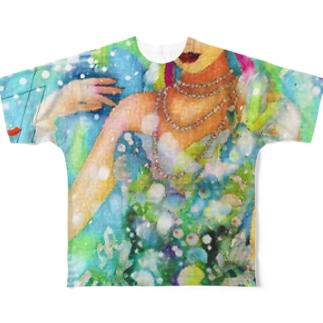 イケてる美女 Full graphic T-shirts