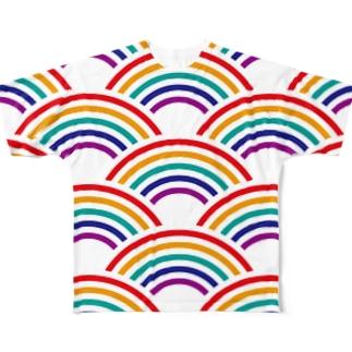 SEIGAIHA01(カラーR) Full graphic T-shirts