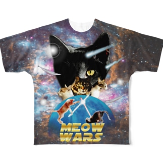 meow wars Full graphic T-shirts