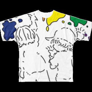 星の人生は色とりどりなんよ Full graphic T-shirts