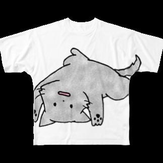 SHIMSHIMPANのなにもしない Full graphic T-shirts