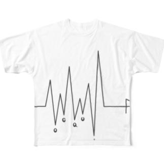 生命線 _ dark Full graphic T-shirts