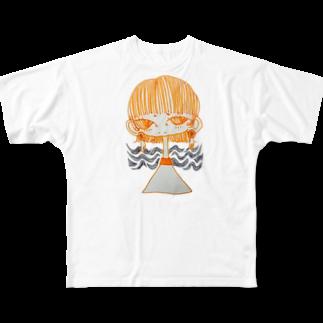 harappadedanceの女の子 Full graphic T-shirts