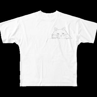 石川 佳宗の覗き見猫 Full graphic T-shirts