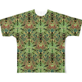 TETETEN SHOPのBUGS & CRAFTS 001 Full graphic T-shirts