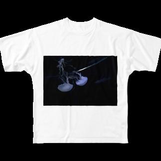 きのこるーむ。の海月になりたい。 Full graphic T-shirts