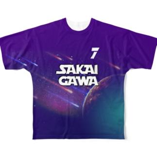 【販売済み】境川フリー/7番 Full graphic T-shirts