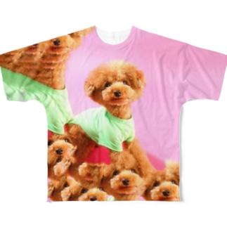 コンテンツに応じた犬 Full graphic T-shirts