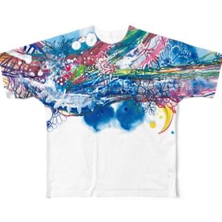 toitoitoi ブランニューケモノロード Full graphic T-shirts