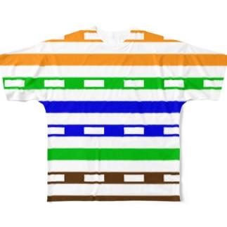 UTPケーブル/100BASE-TX/両面 Full graphic T-shirts