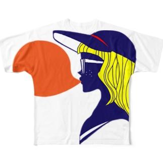 キューカンバーガール bubblegum Full graphic T-shirts