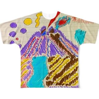お絵かき Full graphic T-shirts