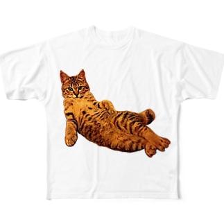 Elegant Cat ③ Full Graphic T-Shirt