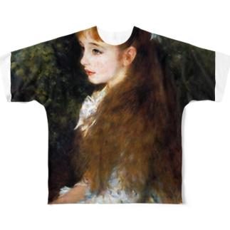 ルノワール 『 イレーヌ・カーン・ダンヴェール嬢 』 Full graphic T-shirts