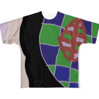 ぐちゃぐちゃん。〜青い空編〜 Full graphic T-shirts