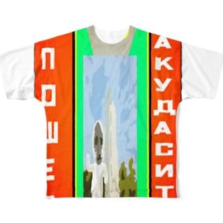 【宮城応援アイテム】角田市行ってきましたグッズ Full graphic T-shirts