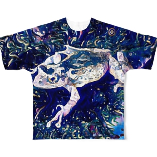 Fantastic Frog -Cosmos Version- Full graphic T-shirts