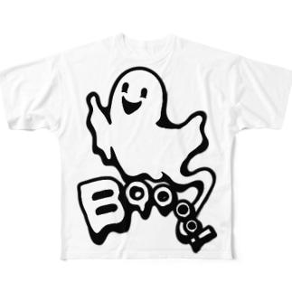 おばけちゃんばぁ!(Boo!ゴースト) Full graphic T-shirts