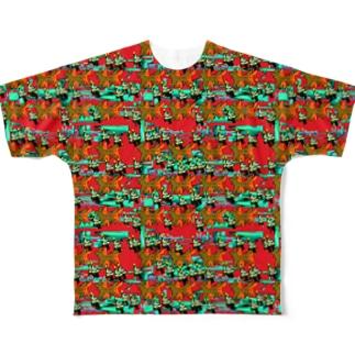 クリスマスわんこの聖なる夜 Full graphic T-shirts