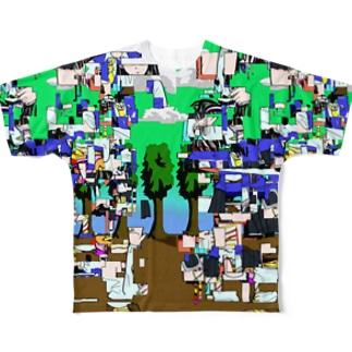 地球は不眠シンドローム Full graphic T-shirts