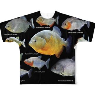 ピラニアの仲間 Full graphic T-shirts