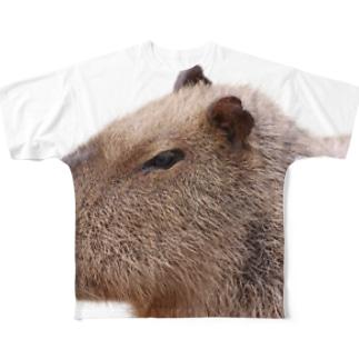 カピパラ Full graphic T-shirts