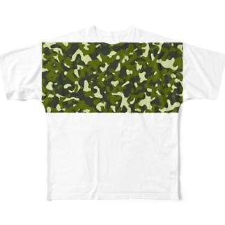 乳首目立たないTシャツの迷彩 Full graphic T-shirts