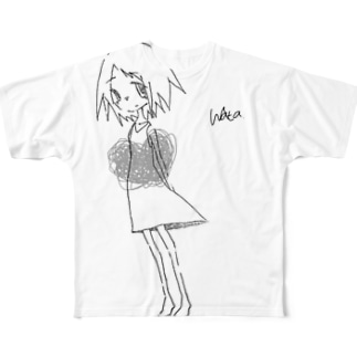 少女 Full graphic T-shirts